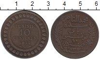 Изображение Монеты Тунис 10 сантим 1912 Бронза XF