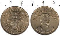 Изображение Монеты Свазиленд 5 эмалангени 1999 Латунь UNC- Мсвати III.  25 - ле