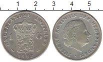 Изображение Монеты Антильские острова 1 гульден 1952 Серебро XF-