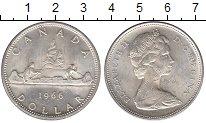 Изображение Монеты Канада 1 доллар 1966 Серебро UNC-