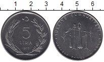 Изображение Монеты Турция 5 лир 1977 Сталь UNC-