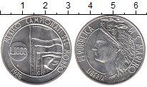 Изображение Монеты Сан-Марино 1000 лир 1986 Серебро UNC-