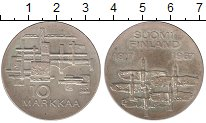 Изображение Монеты Финляндия 10 марок 1967 Серебро UNC- 50  лет  независимос
