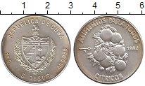 Изображение Монеты Куба 5 песо 1982 Серебро UNC-