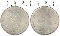 Изображение Монеты Нидерланды 10 гульденов 1973 Серебро UNC