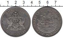Изображение Монеты Сент-Люсия 10 долларов 1982 Медно-никель UNC-
