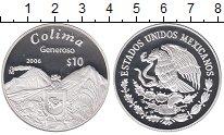 Изображение Монеты Мексика 10 песо 2006 Серебро Proof COLIMA