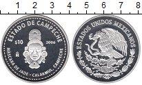 Изображение Монеты Мексика 10 песо 2006 Серебро Proof ESTADO DE CAMPECHE