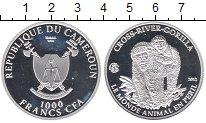 Изображение Монеты Камерун 1.000 франков 2012 Серебро Proof Горилла