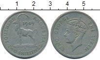 Изображение Монеты Великобритания Родезия 2 шиллинга 1949 Медно-никель VF