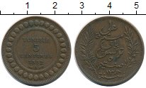 Изображение Монеты Тунис 5 сантим 1892 Бронза XF