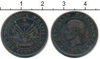 Изображение Монеты Гаити 10 сантим 1863 Медь XF