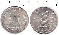Изображение Монеты Сан-Марино 500 лир 1975 Серебро UNC-