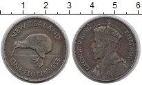 Изображение Монеты Новая Зеландия 1 флорин 1933 Серебро XF-