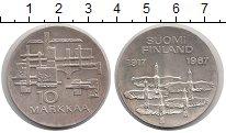 Изображение Монеты Финляндия 10 марок 1967 Серебро UNC- 50-летие независимос