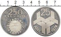 Изображение Монеты Португалия 250 эскудо 1976 Серебро Proof-
