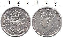 Изображение Монеты Великобритания Родезия 1/2 кроны 1940 Серебро XF