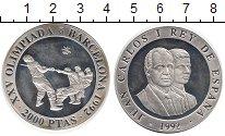 Изображение Монеты Испания 2000 песет 1992 Серебро Proof- Олимпийские игры,пер