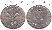 Изображение Монеты Нигерия 1 шиллинг 1959 Медно-никель UNC- Елизавета II
