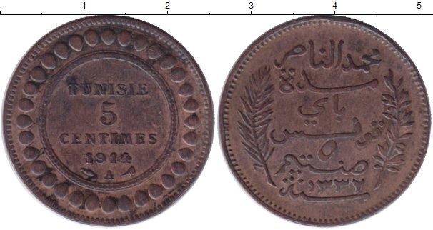Картинка Монеты Тунис 5 сантим Бронза 1914