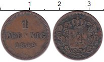 Изображение Монеты Бавария 1 пфенниг 1849 Медь XF