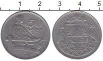 Изображение Монеты Латвия 50 сантим 1922 Медно-никель XF-