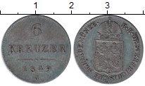 Изображение Монеты Австрия 6 крейцеров 1849 Серебро XF- Герб