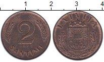 Изображение Монеты Латвия 2 сантима 1939 Бронза XF+
