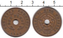 Изображение Монеты Родезия 1 пенни 1942 Бронза XF