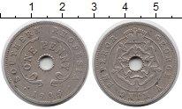 Изображение Монеты Великобритания Родезия 1 пенни 1935 Медно-никель XF