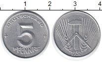 Изображение Монеты ГДР 5 пфеннигов 1952 Алюминий UNC-
