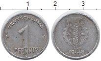 Изображение Монеты ГДР 1 пфенниг 1948 Алюминий VF