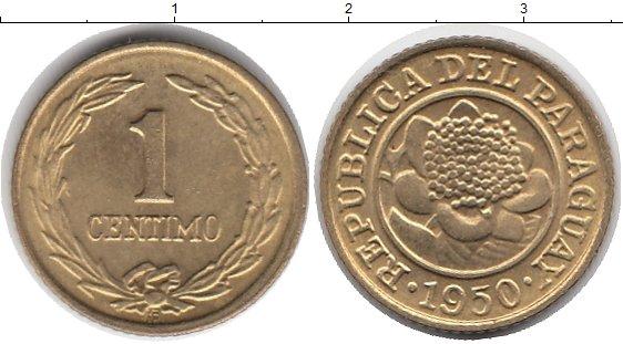 Картинка Монеты Парагвай 1 сентим Латунь 1950