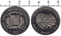 Изображение Монеты Доминиканская республика 1/2 песо 1987 Медно-никель UNC-