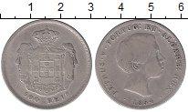 Изображение Монеты Португалия 500 рейс 1854 Серебро VF