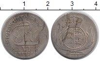 Изображение Монеты Германия Вюртемберг 6 крейцеров 1811 Серебро VF