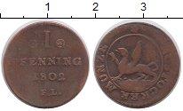 Изображение Монеты Росток 1 пфенниг 1802 Медь XF-
