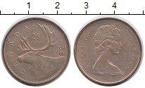 Изображение Монеты Канада 25 центов 1968 Медно-никель XF Лось
