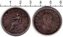 Изображение Монеты Великобритания 1/2 пенни 1806 Медь XF Георг III