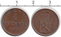 Изображение Монеты Германия Гессен-Дармштадт 1 пфенниг 1866 Медь XF+