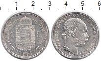 Изображение Монеты Венгрия 1 форинт 1881 Серебро XF+