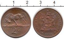 Изображение Монеты ЮАР 2 цента 1974 Бронза UNC-