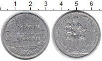 Изображение Монеты Полинезия 5 франков 1965 Алюминий XF-