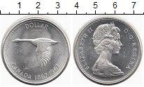 Изображение Монеты Канада 1 доллар 1967 Серебро UNC- 100 лет Конфедерации