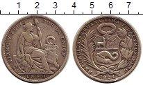 Изображение Монеты Перу 1 соль 1924 Серебро VF
