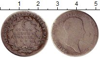 Изображение Монеты Пруссия 1/6 талера 1814 Серебро VF Фридрих III