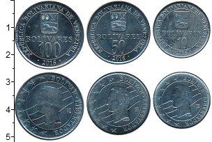 Изображение Наборы монет Венесуэла Венесуэла 2016 2016 Медно-никель UNC Набор монет 2016 год