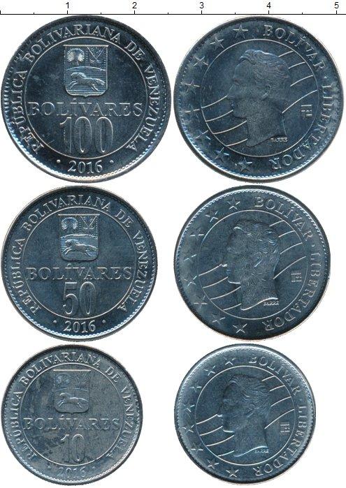 Картинка Наборы монет Венесуэла Венесуэла 2016 Медно-никель 2016