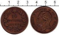 Изображение Монеты Италия 10 чентезимо 1866 Медь XF Витторио Имануил II