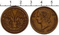 Изображение Монеты Центральная Африка 25 франков 1956 Латунь XF
